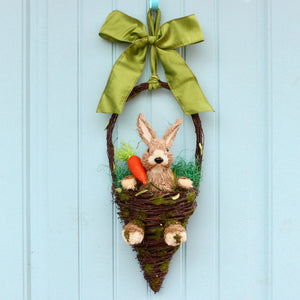 Easter Bunny in Basket Door Hanger