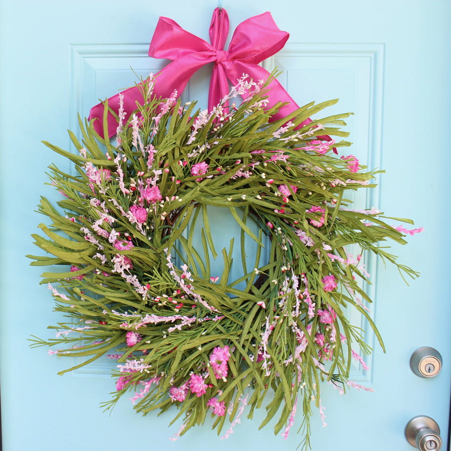 Green Forsythia Wreath