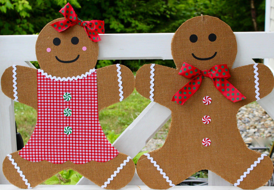 Gingerbread Man Door Hanger