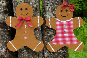 Gingerbread Man Wreath Alternative