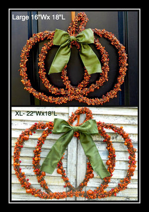 Pumpkin Pip Berry Wreath