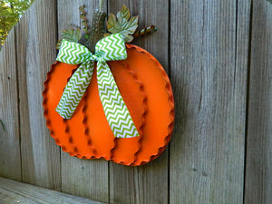 Metal Pumpkin Door Hanger