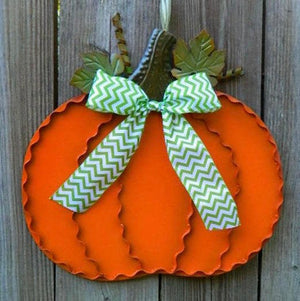 Metal Pumpkin Wreath Alternative