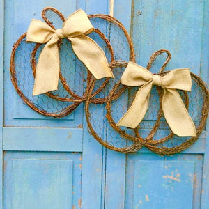 Farmhouse Grapevine Pumpkins Wreath