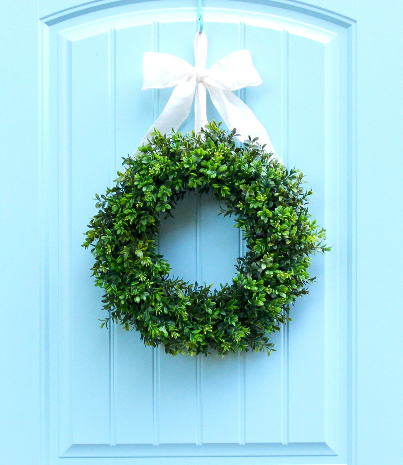 Boxwood Wreath  - All Season Wreath - Artificial Boxwood Door Wreath - Choose Size