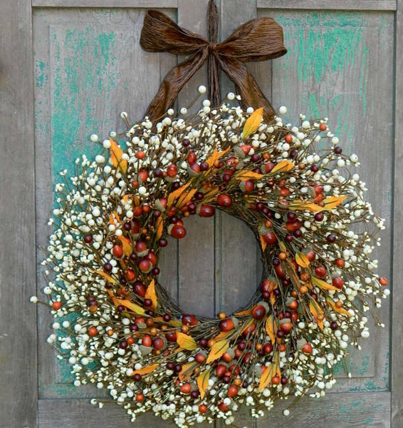 Fall Berry Wreath - Thanksgiving Wreath