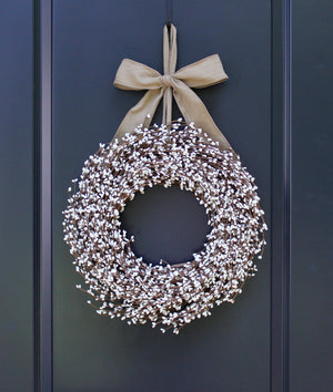 Cream Pip Berry Wreath