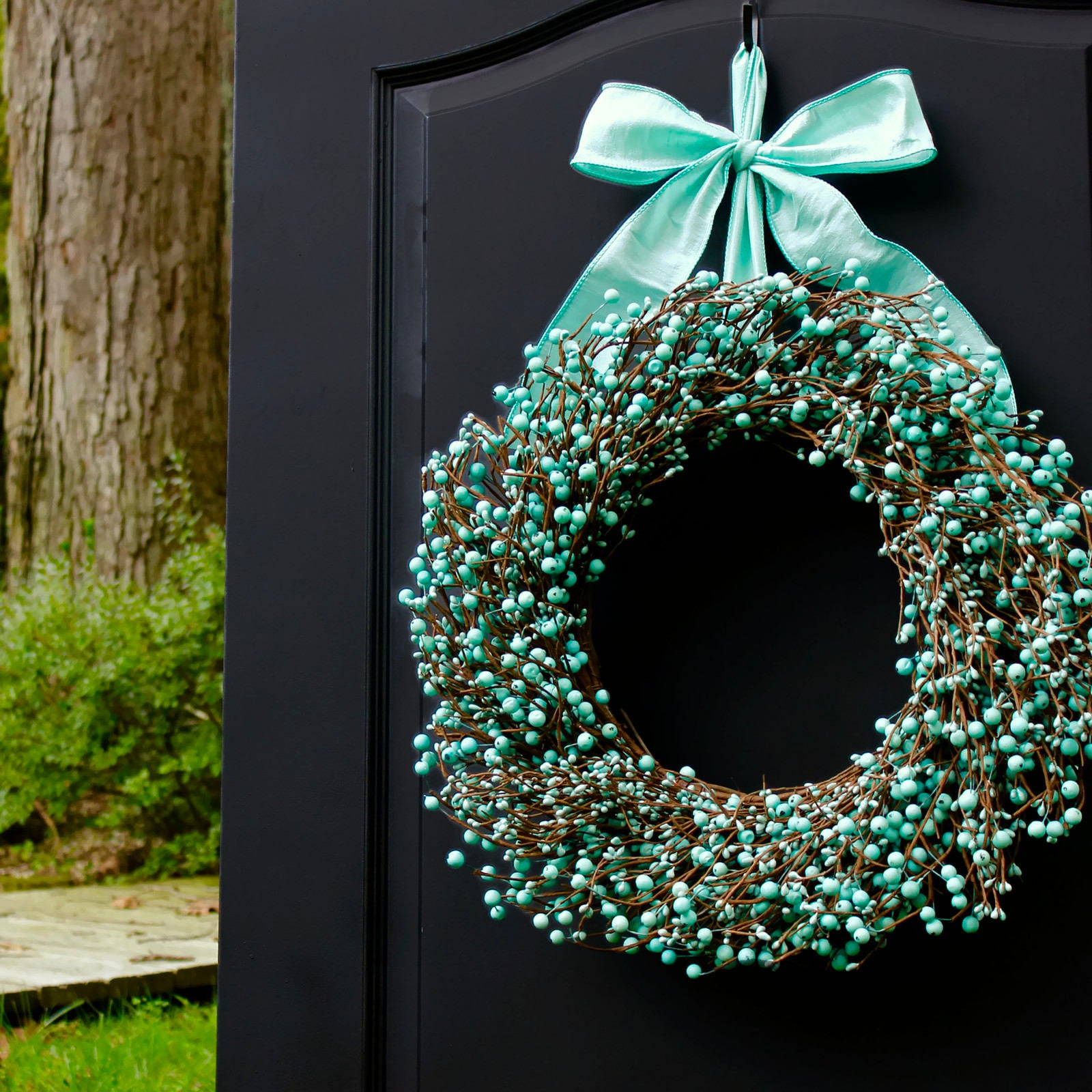 Turquoise Wreath - Robins Egg Blue Wreath