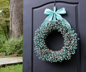 Light Teal Berry Wreath
