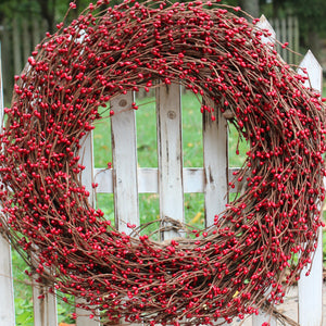 Red Pip Berry Wreath (no bow)