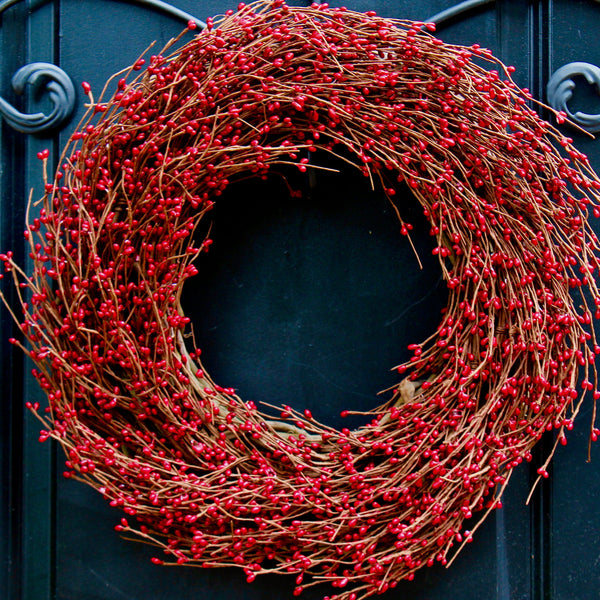Red Pip Berry Wreath - Red Berry Wreath