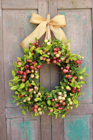 Rosehips Wreath with Bow