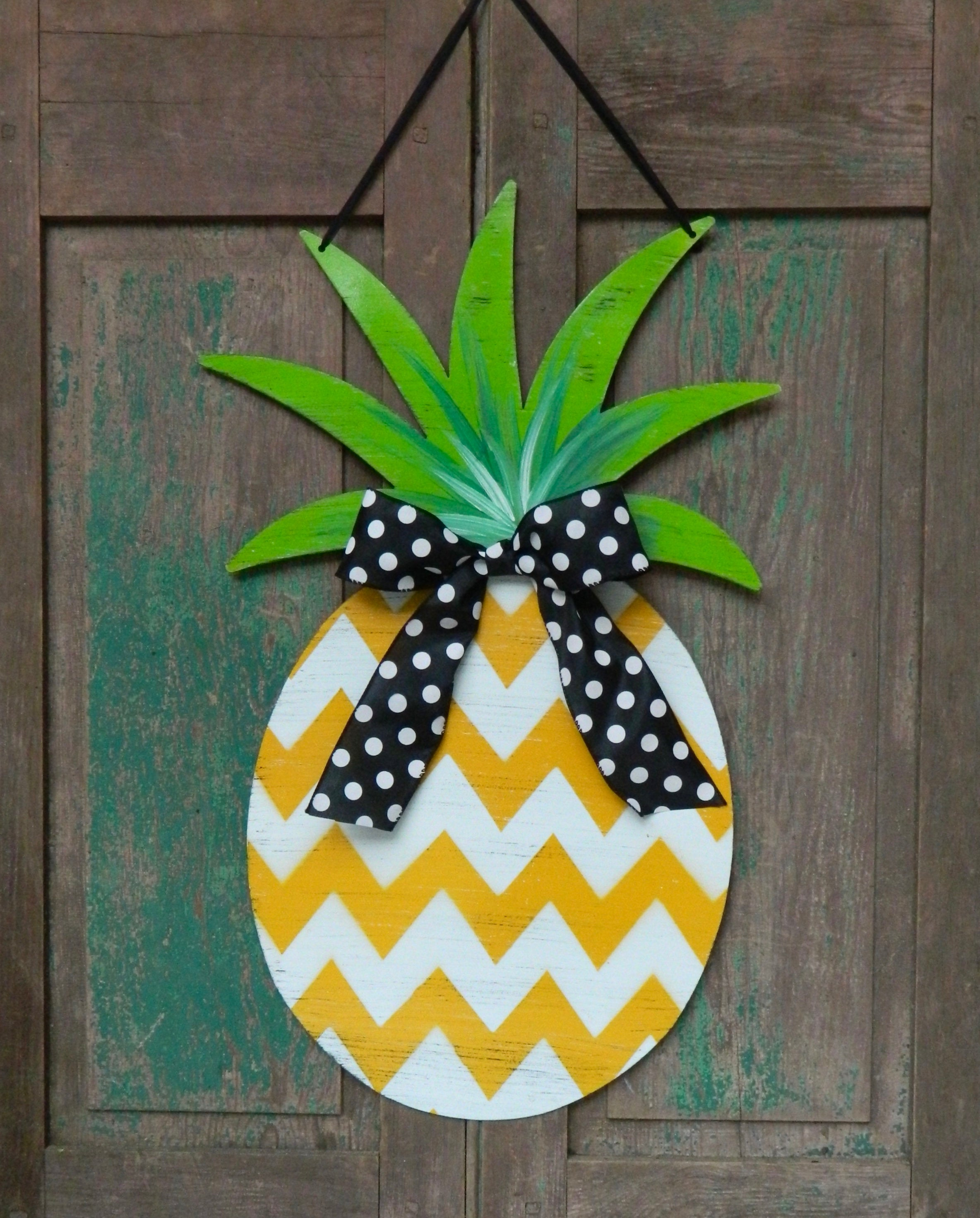 Pineapple Door Hanger - Pineapple Welcome