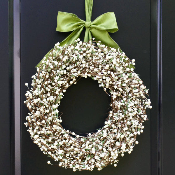 All Season Wreath - Cream Berry Wreath