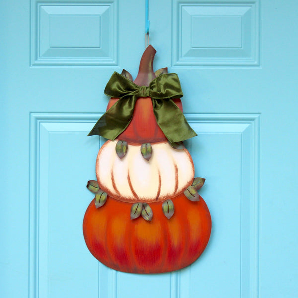 Pumpkin Topiary Wreath - Cream Pumpkin Wreath - Fall Wreath - Fall Door Hanger