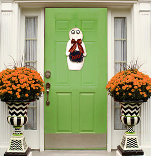 Halloween Mummy Wreath Alternative