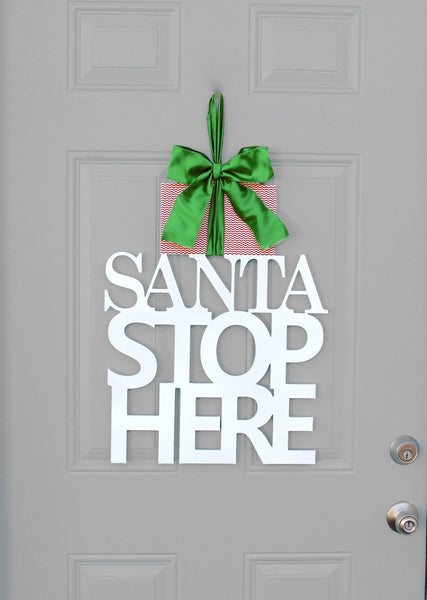 Christmas Wreath - Santa Stop Here