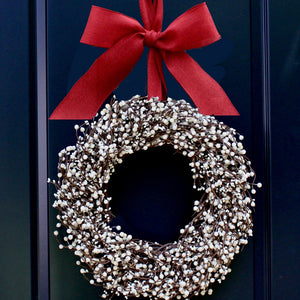 Cream Berry Wreath