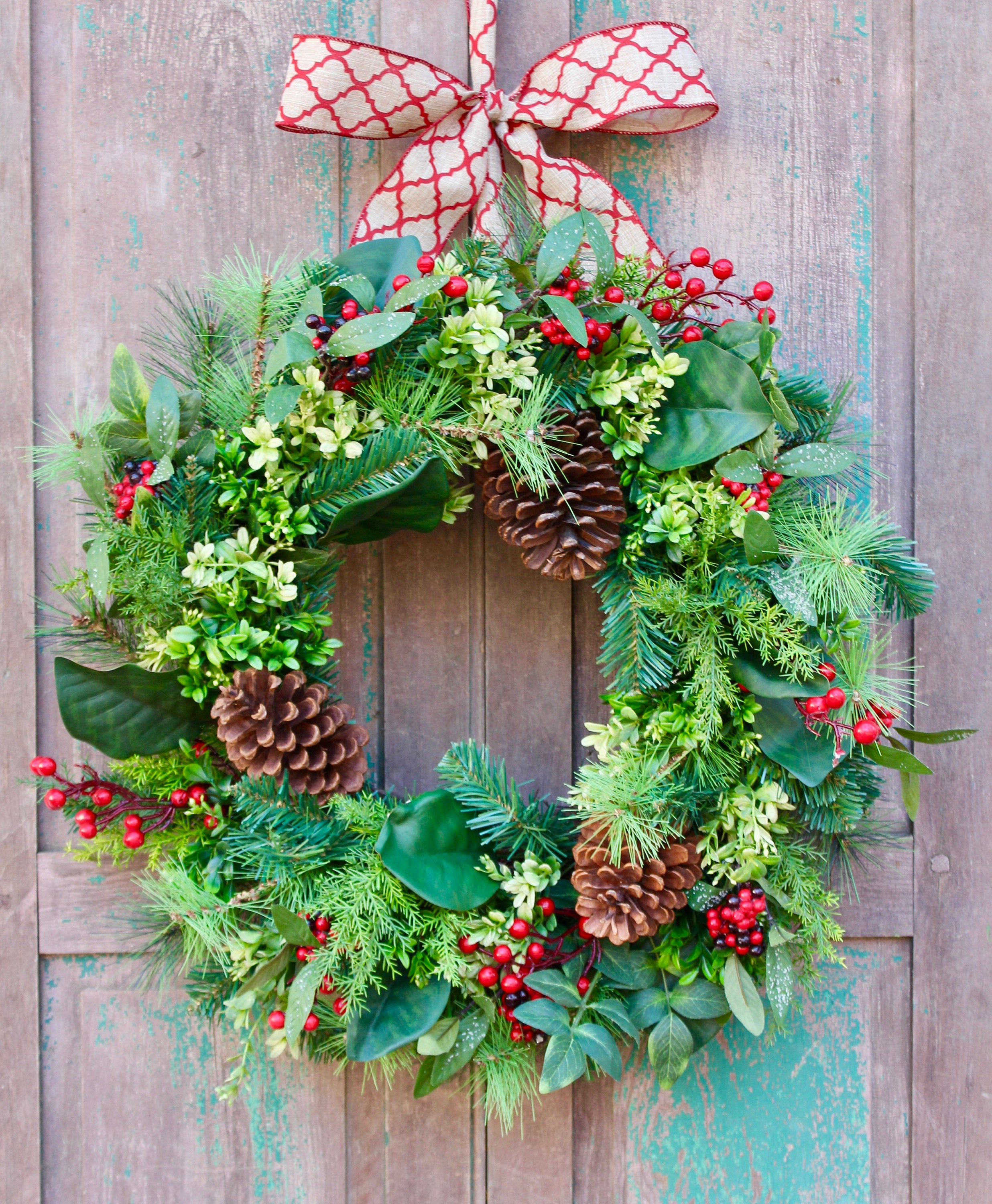 Evergreen Christmas Wreath - Green Holiday Wreath