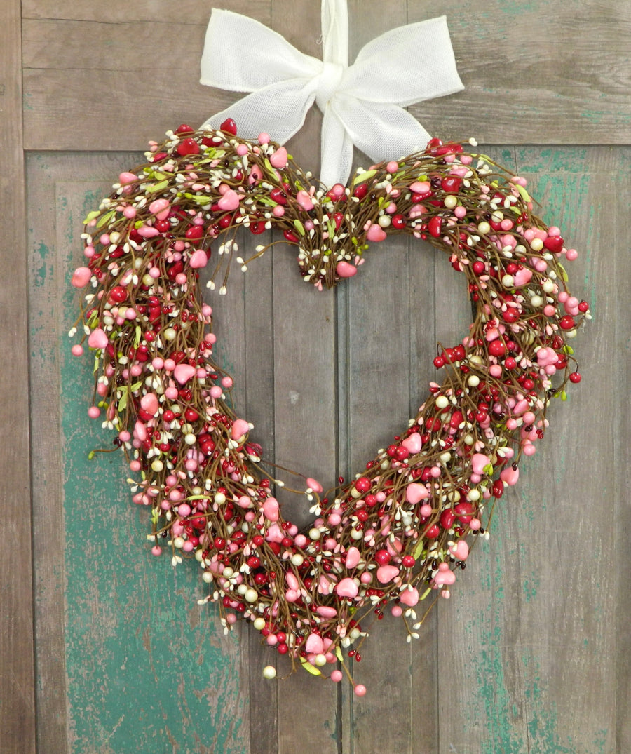 Red Heart Valentine Wreath