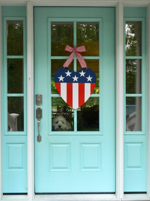American Flag Heart Wreath Alternative