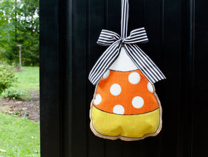 Candy Corn Door Hanger with Bow