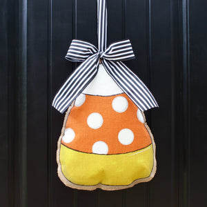 Candy Corn Door Hanger - Halloween Wreath - Halloween Door Hanger - Halloween Door Decor