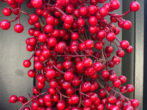 Red Waterproof Berry Wreath - Christmas Wreath - Buffalo Check Wreath