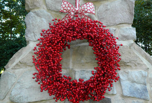 Red Waterproof Wreath