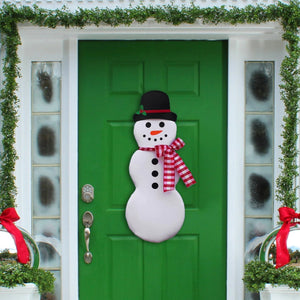 Snowman Wreath - Christmas Wreath - Winter Door Wreath