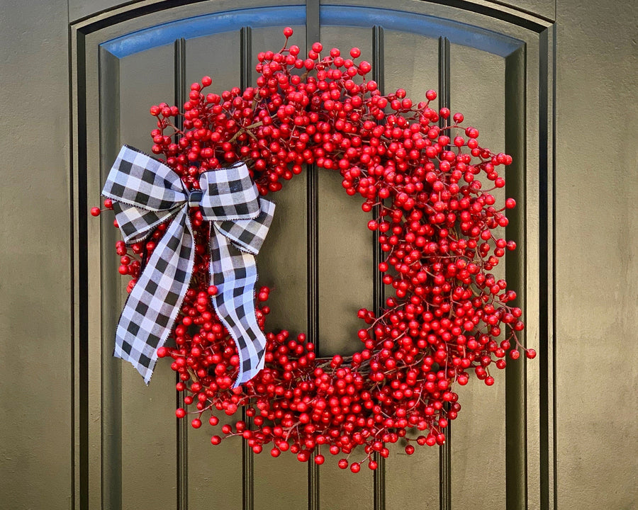 Red Waterproof Berry Wreath