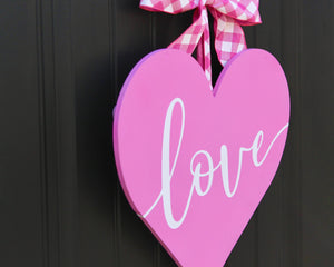 Wood Heart Door Hanger