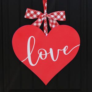 Valentine Wreath - Heart Wreath - Love Wreath - Valentine Door Hanger