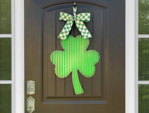 Shamrock Door Hanger - Saint Patrick's Day Wreath - Clover Door Hanger