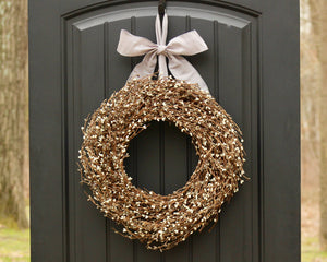 Gray & Cream Pip Berry Wreath