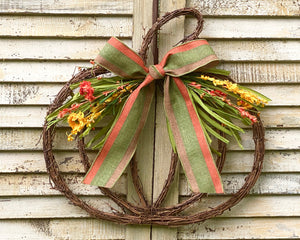 Grapevine Pumpkin Wreath - Fall Pumpkin Door Decor - Autumn Pumpkin Wreath