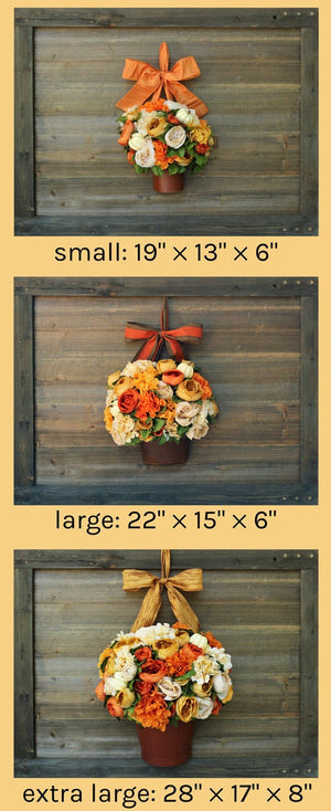 Luxury Fall Door Wreath - Fall Bucket Wreath - Door Wreath Alternative