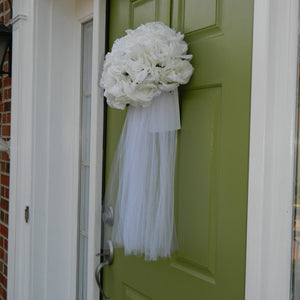 Bridal Wedding Veil Wreath Alternative