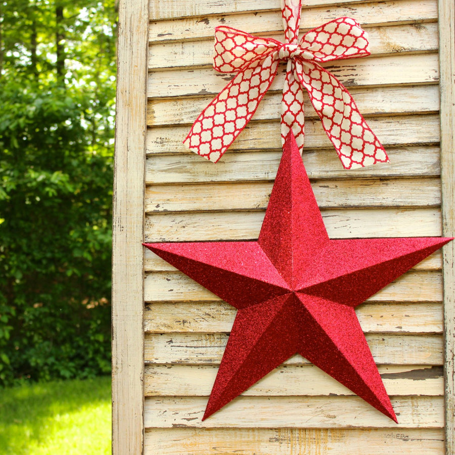 Glitter Star Wreath Alternative