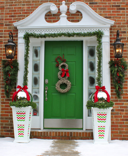 Christmas Wreath - Snowman Wreath - Chevron Wreath - Christmas Decoration