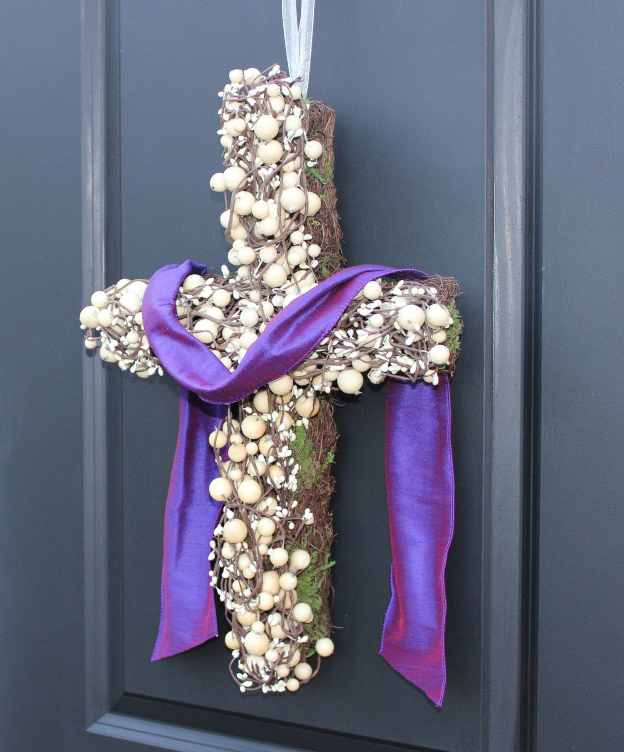 Easter Wreath - Cross Wreath - Wedding Wreath - Lent Wreath