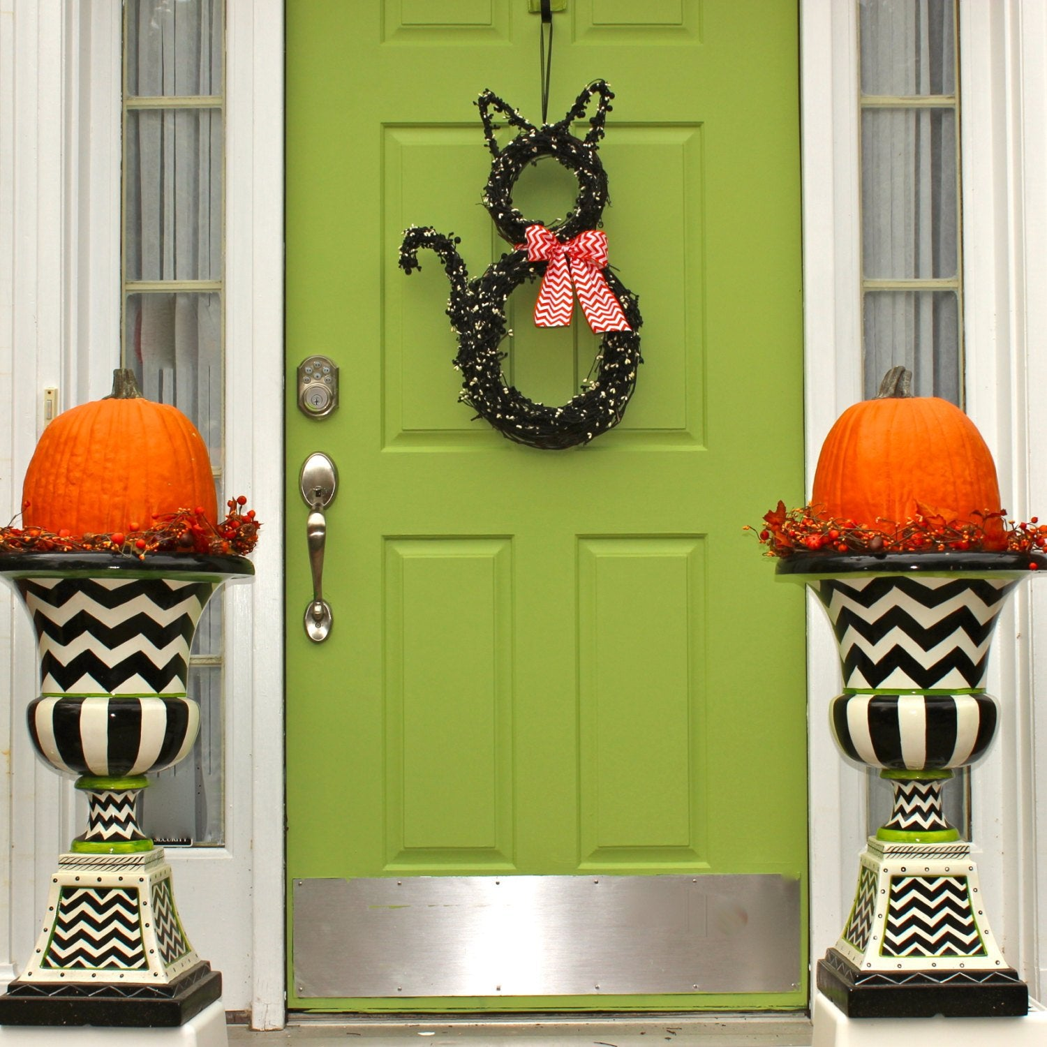 Fall Wreath - Cat Wreath - Original Wreath - Halloween Wreath - Fall Door Decor