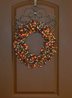 Burgundy, Rose Hip, & Cream Fall Combo Berry Wreath (no bow)