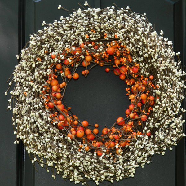 Fall Wreath - Thanksgiving Wreath - Autumn Door Decor