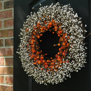 Orange & Cream Two Tone Wreath