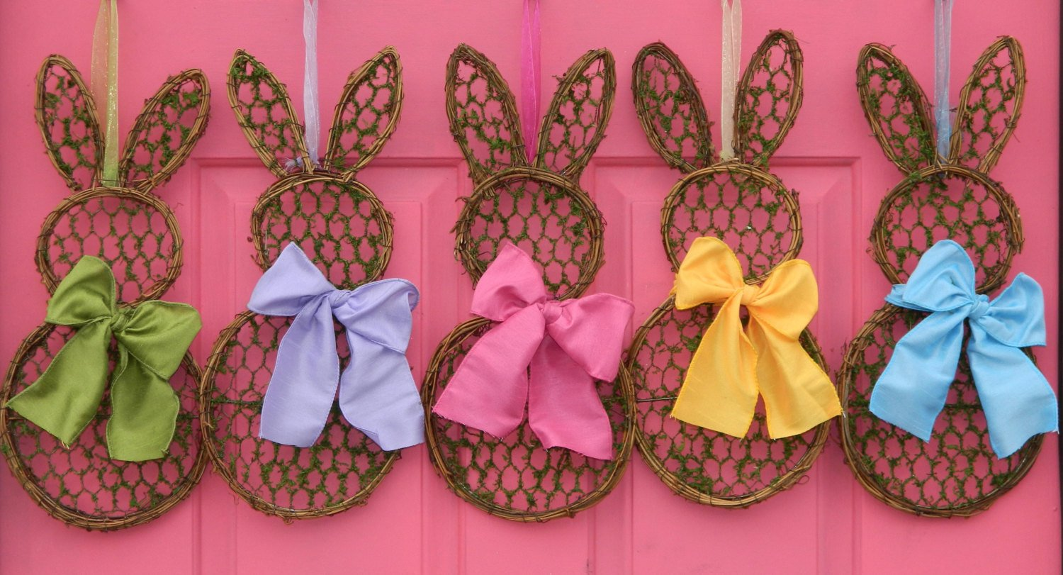 Mini Bunny Wreath - Spring Wreath  - Easter Wreath