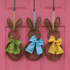 Mini Chicken Wire Bunny Wreath