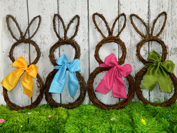 Easter Wreath - Bunny Wreath - Spring Wreath  - Easter Decoration - Quick Ship