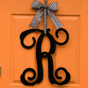 Monogram Wreath with Bow
