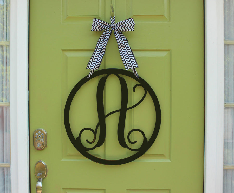 Round Monogram Wreath Alternative